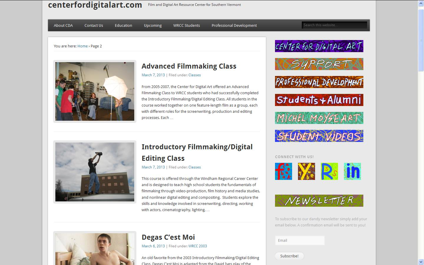 Center for Digital Art Articles page