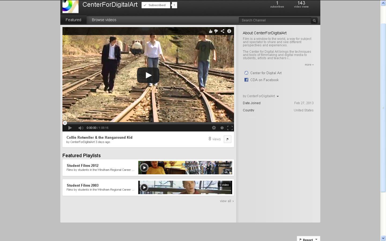 Center for Digital Art YouTube Channel